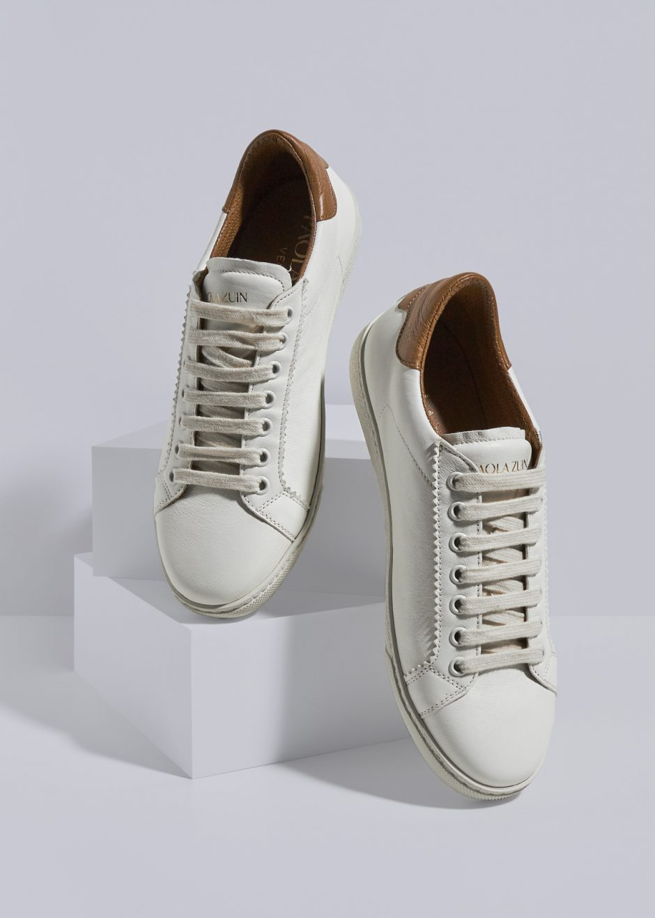 Jackie – Sneakers in pelle di capretto milk