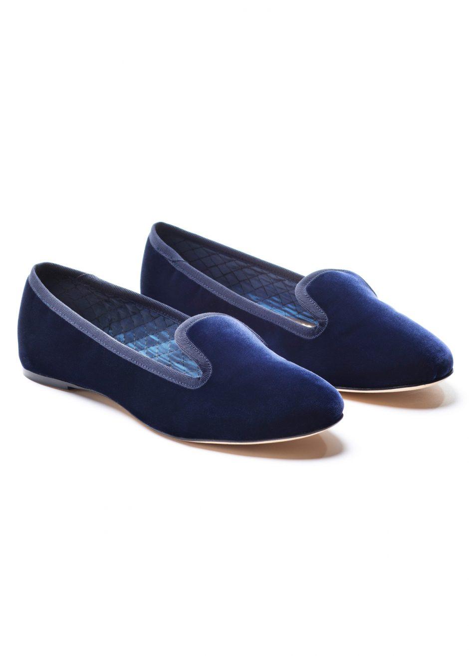 Casanova – Slipper deep blue velvet