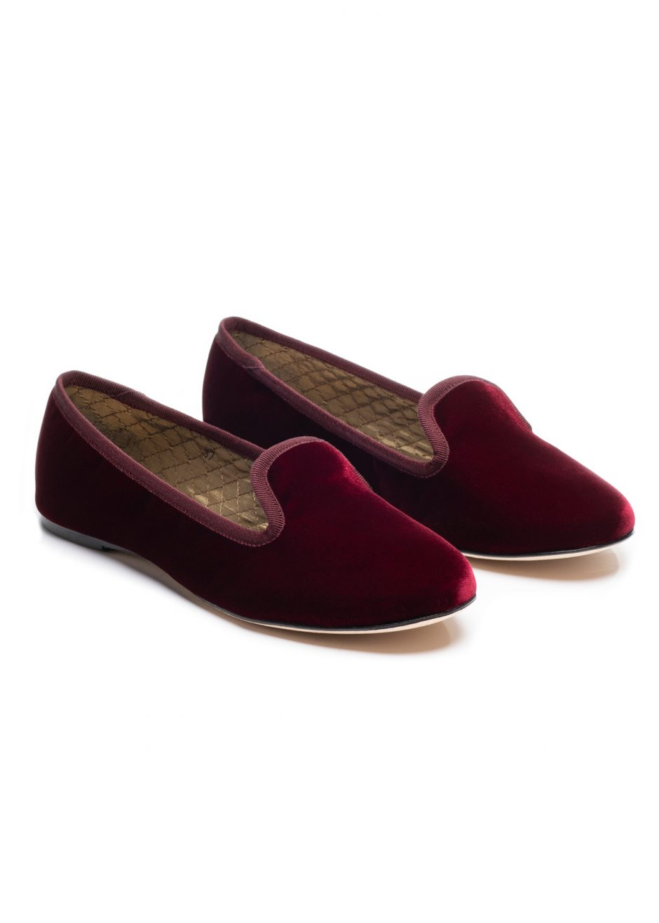 Casanova – Slipper bordeaux velvet