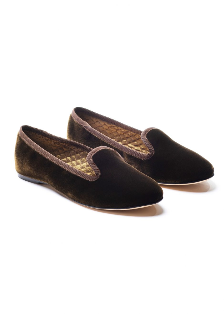 Casanova – Slipper brown velvet