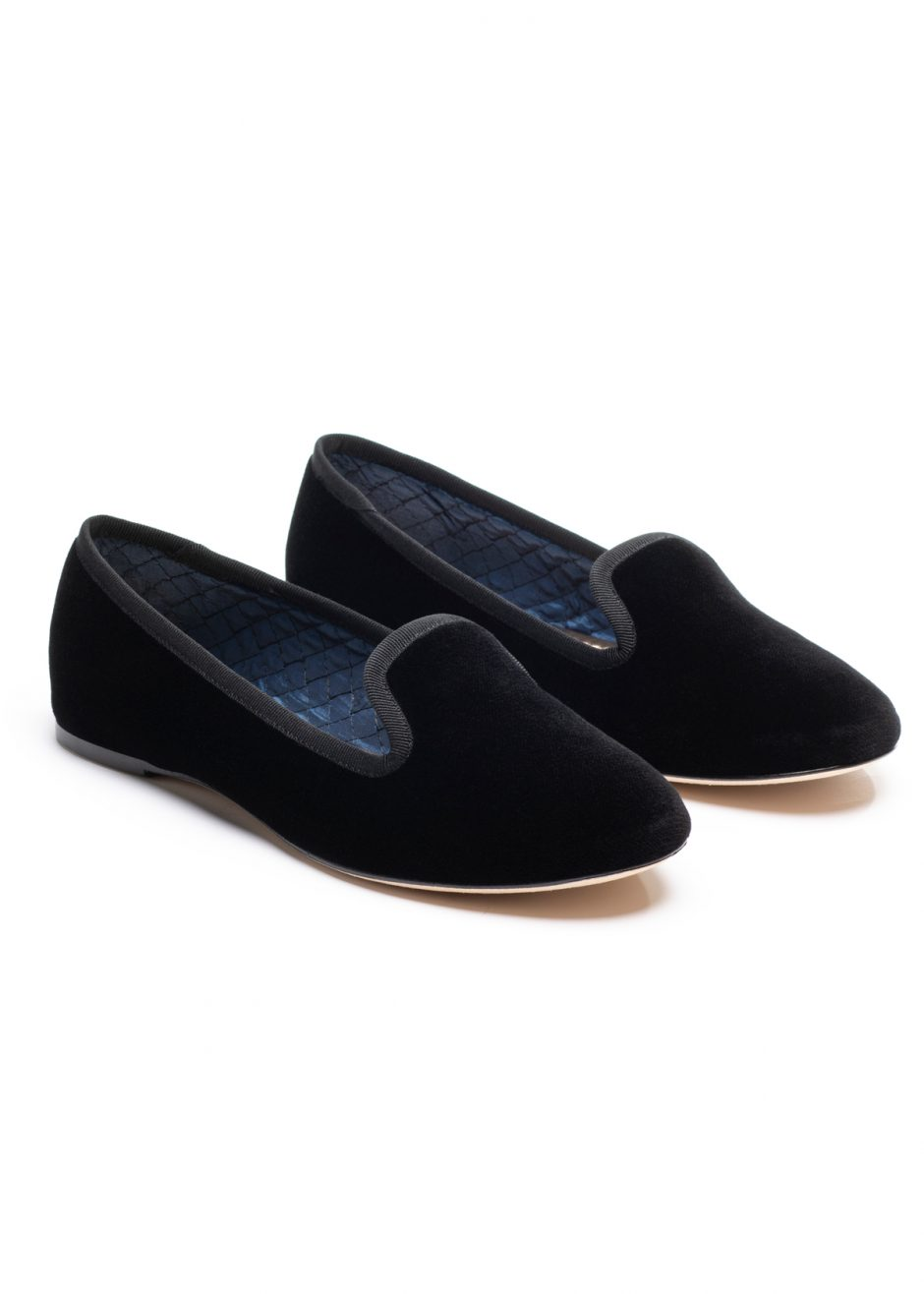 Casanova – Slipper black velvet