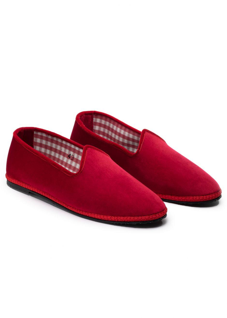 Gatsby – furlana in velluto rosso