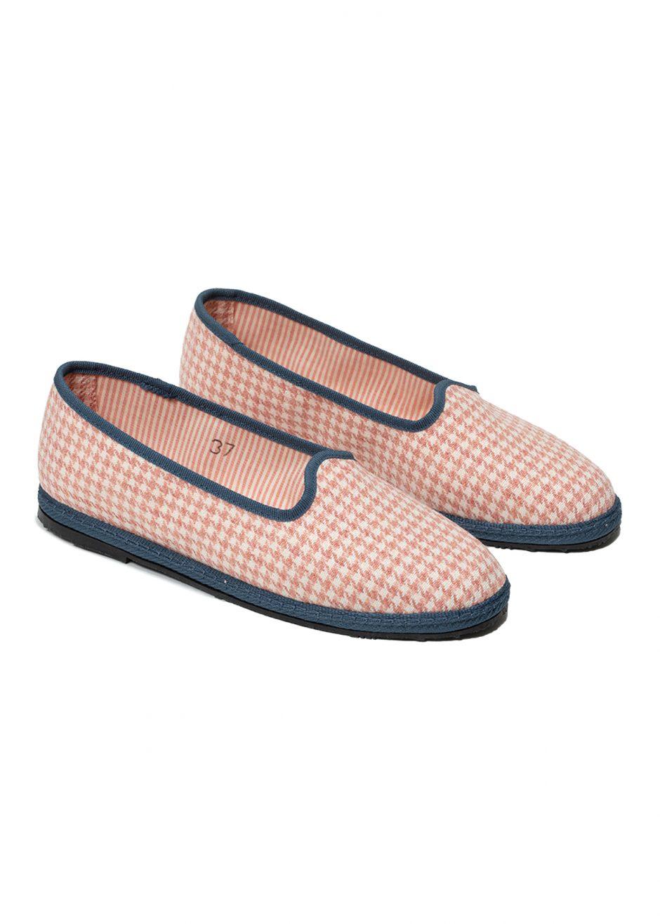 Peggy – furlana in pied de poule rosa