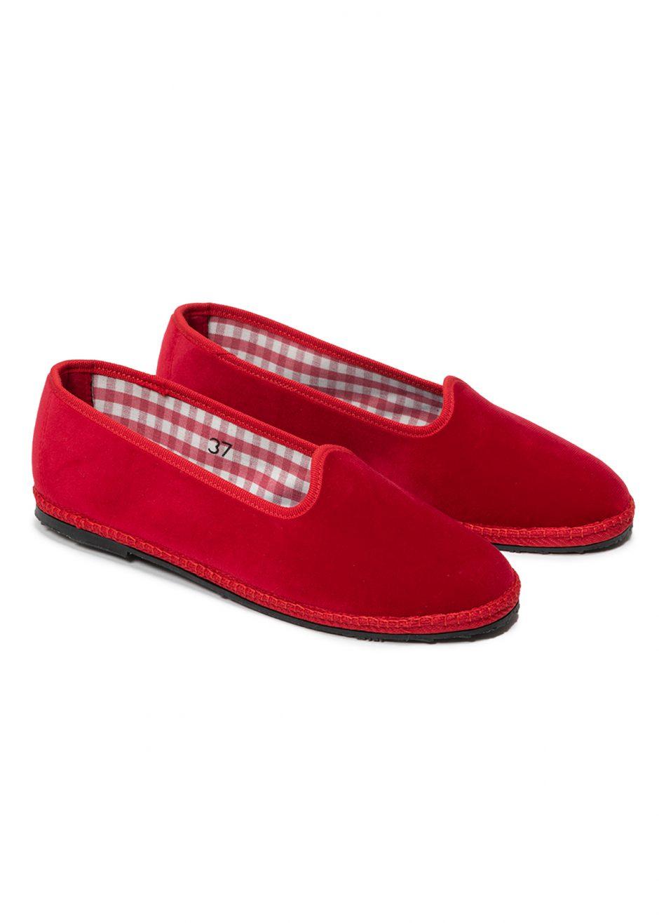 Rialto – Furlana in velluto rosso rubino
