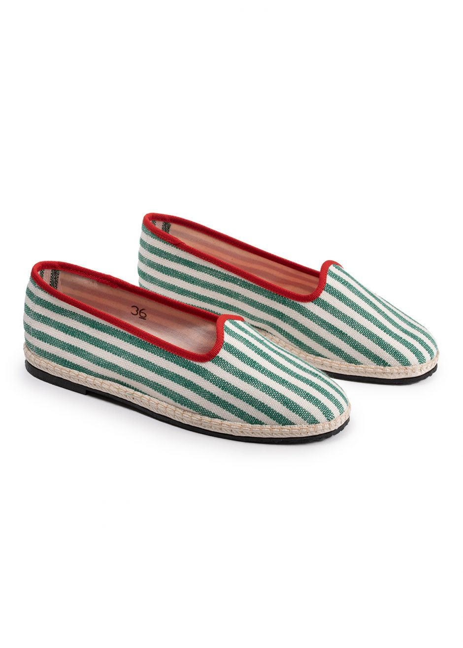 Daisy – Furlana green striped linen