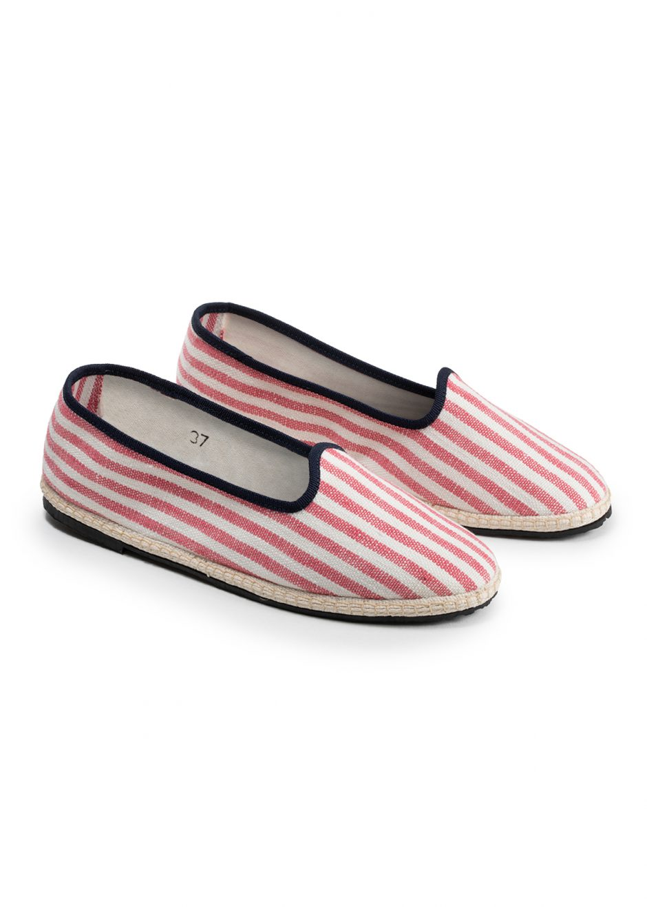 Daisy – Furlana red striped linen
