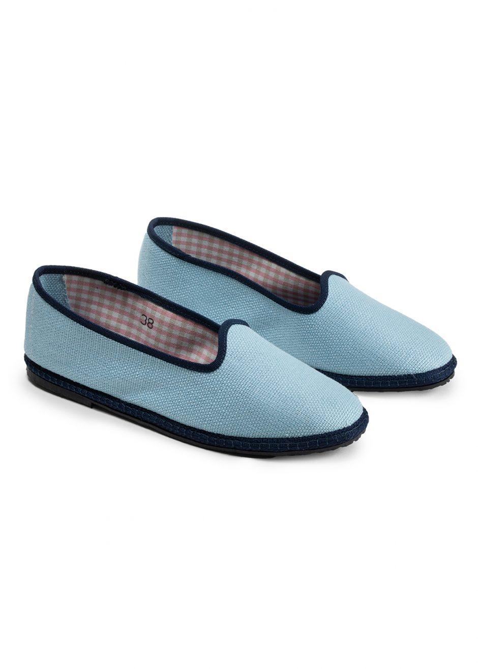 Daisy – Furlana in lino azzurro cielo