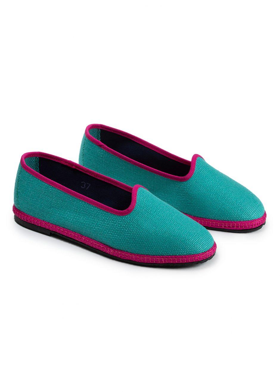 Daisy – Furlana turquoise linen