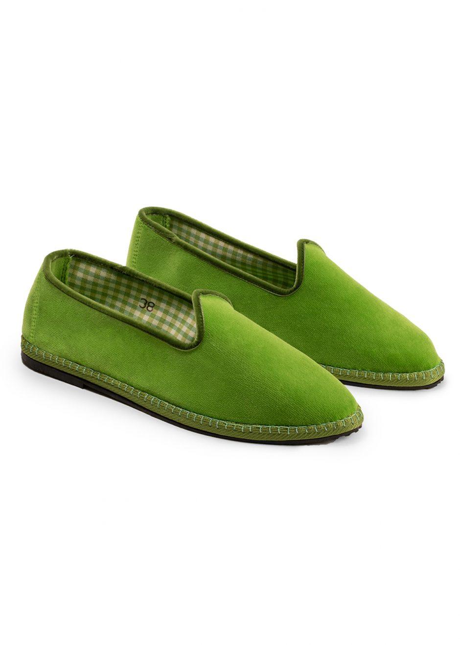 Rialto – Furlana apple green velvet