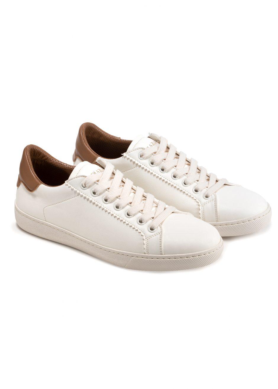 Jackie – Sneakers in pelle di capretto milk