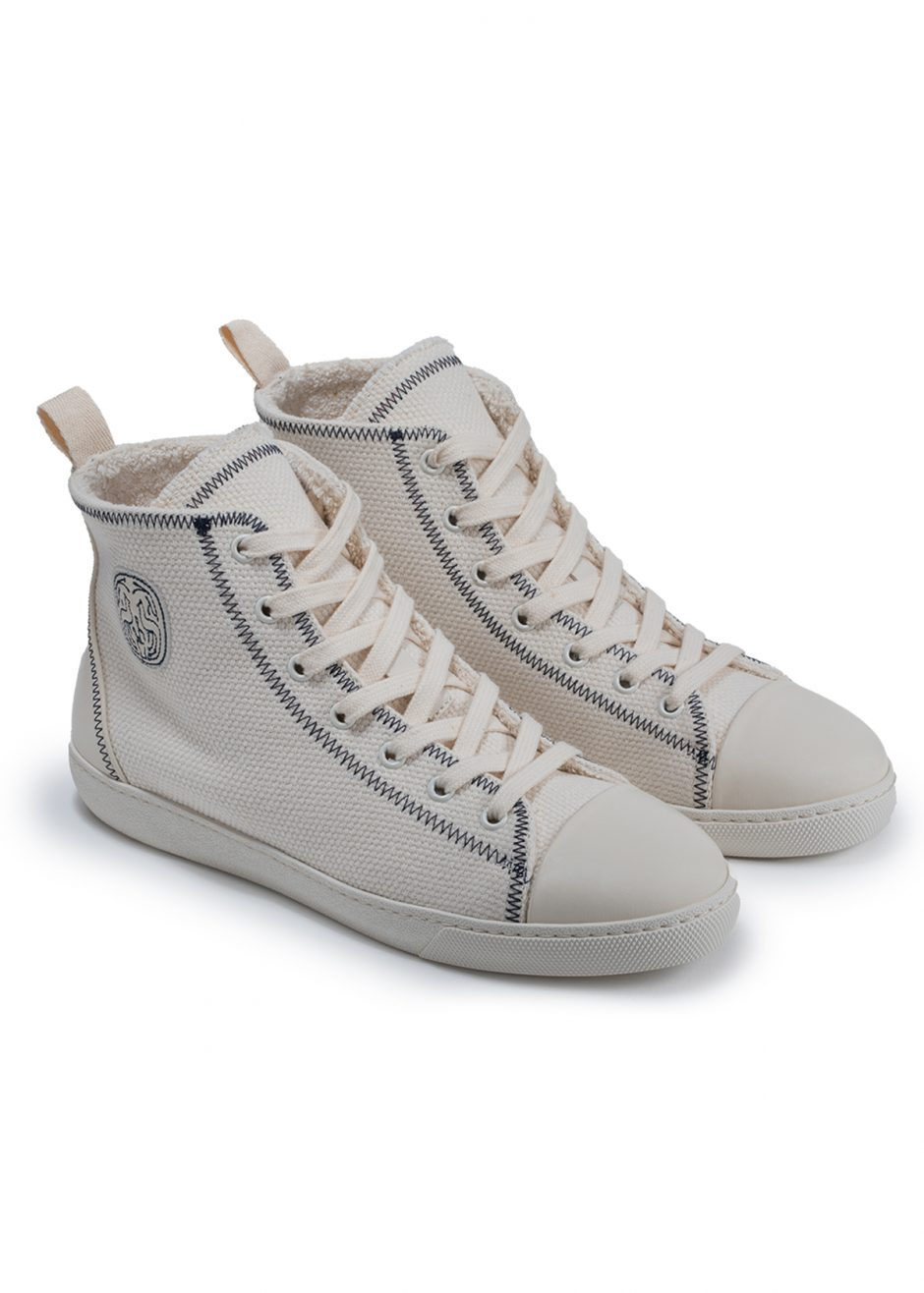 Canvas up Jackie – Sneakers milk canvas