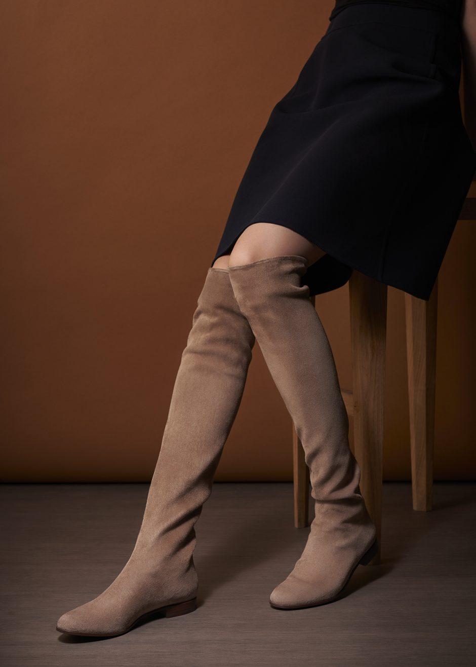Parigi – Cuissard in soft stretch rosewood suede