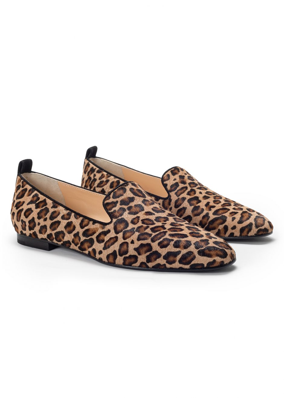 Vicky – Ballet flat spotted pony skin suede