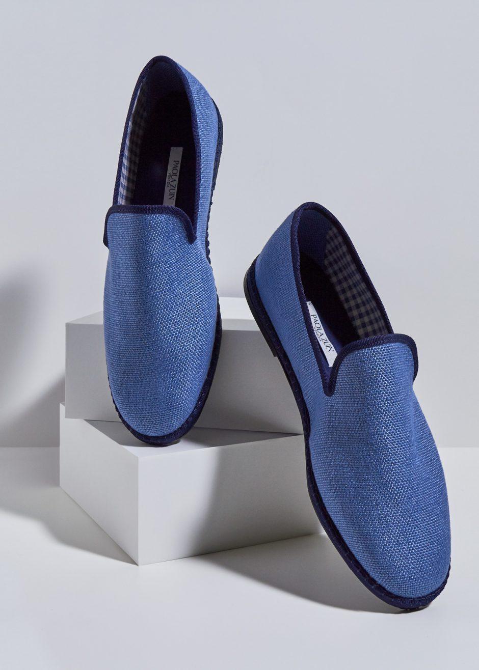 Gatsby – Furlana in lino blu avio